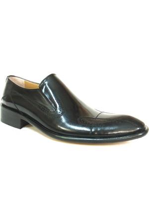 Fastway 1198 Siyah Deri Kösele Klasik Erkek Ayakkabı