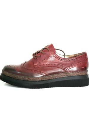 Akl Shoes Bordo Deri Oxford Ayakkabı