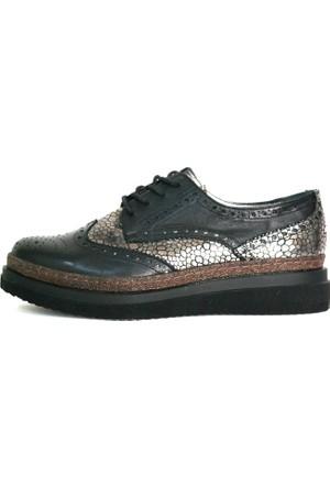 Akl Shoes Siyah Deri Oxford Ayakkabı