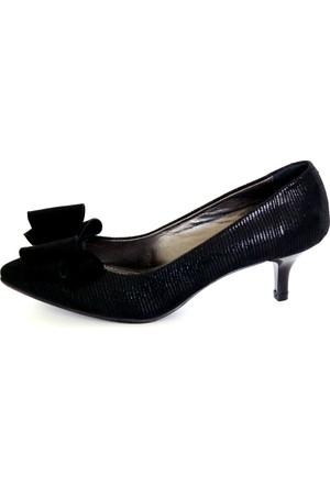 Akl Shoes Siyah Fiyonklu Ayakkabı