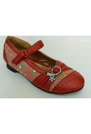 Punto Kırmızı Kız Çocuk Babet Ayakkabı