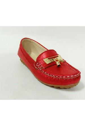 Punto 603101 Kırmızı Püsküllü Kız Çocuk Babet