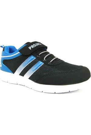 Projack 5004 Siyah Mavi Çocuk Spor Ayakkabı