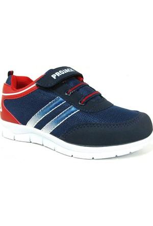 Projack 5004 Lacivert Kırmızı Çocuk Spor Ayakkabı