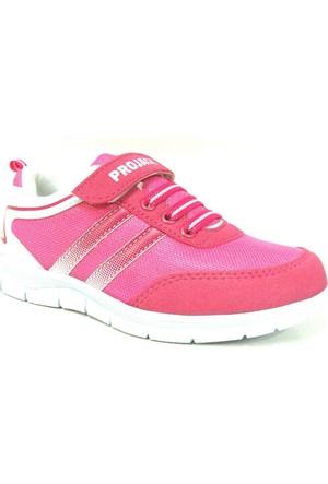 Projack 5004 Pembe Beyaz Çocuk Spor Ayakkabı