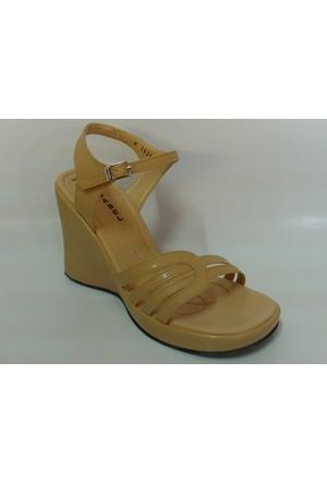 Isabel 1825 Camel Platform Dolgu Topuk Ayakkabı
