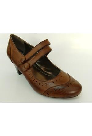 Polaris 154232 Kahverengi Topuklu Bayan Ayakkabı