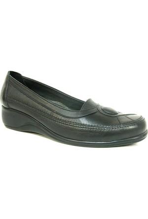 Elçin Siyah Bayan Ortopedik Ayakkabı