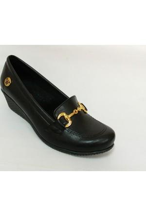 Bls Siyah Dolgu Topuk Ayakkabı