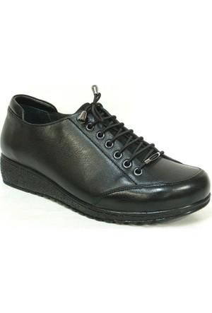 Fierro 1240 Siyah %100 Deri Ortopedik Comfort Bayan Ayakkabı