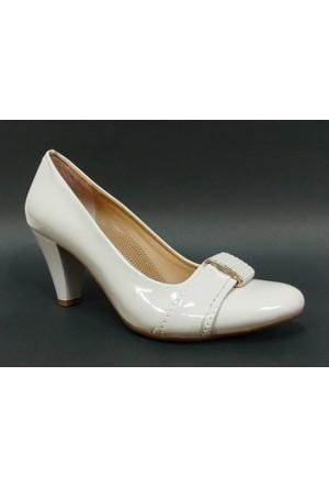 Topuz 056 Bej Rugan Topuklu Bayan Ayakkabı