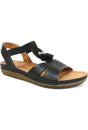Carlaverde 140738 Siyah Anatomik Comfort Bayan Sandalet