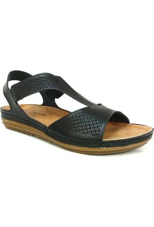 Carlaverde 140730 Siyah Anatomik Comfort Bayan Sandalet