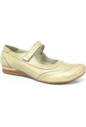 Elçin 106 Bej Krem Ortopedik Bayan Ayakkabı