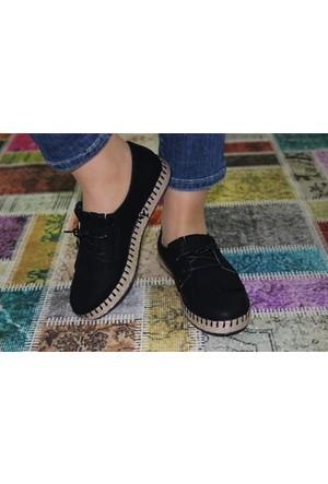 Feminant Fancy Siyah Keten Ayakkabı