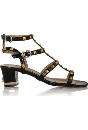EsMODA Cc-5027 Siyah Rugan Kadın Sandalet
