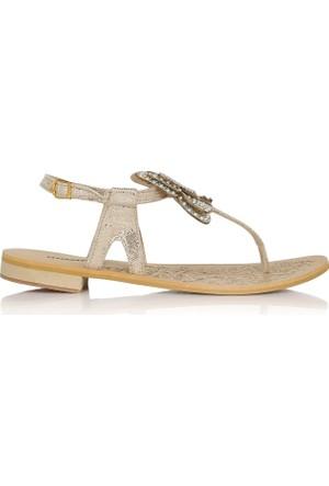 EsMODA Cc-6700 Altın Kadın Sandalet