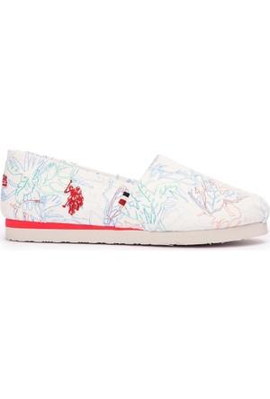 U.S. Polo Assn. Kadın Y7Flair Ayakkabı Beyaz
