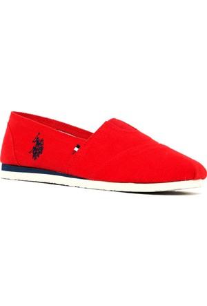 U.S. Polo Assn. Kadın Y7Huff Espadril Ayakkabı Kırmızı
