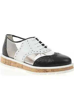 Nemesis Shoes Casual Ayakkabı Siyah Beyaz Deri