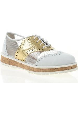 Nemesis Shoes Casual Ayakkabı Beyaz Altın Deri