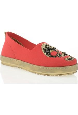 Nemesis Shoes Casual Ayakkabı Kırmızı Kuru Kafalı Tekstil