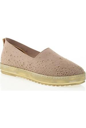 Nemesis Shoes Casual Ayakkabı Vizon Taşlı Tekstil