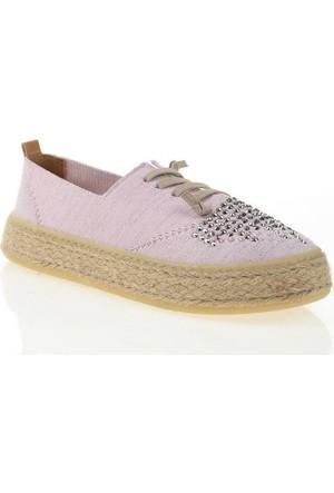 Nemesis Shoes Casual Ayakkabı Pembe Taşlı Tekstil