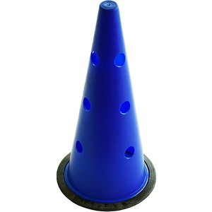 spor724 42 cm büyük boy delikli mavi antrenman hunisi
