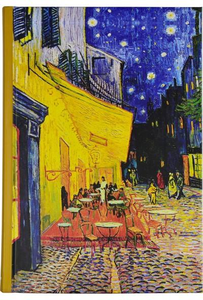 Art Of World / Van Gogh 14*20 96 Sayfa Sert Kapak 70 Gr. Enzo Lux Çizgili Defter