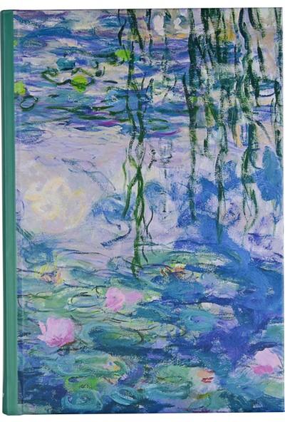 Art Of World / Monet 14*20 96 Sayfa Sert Kapak 70 Gr. Enzo Lux Çizgili Defter