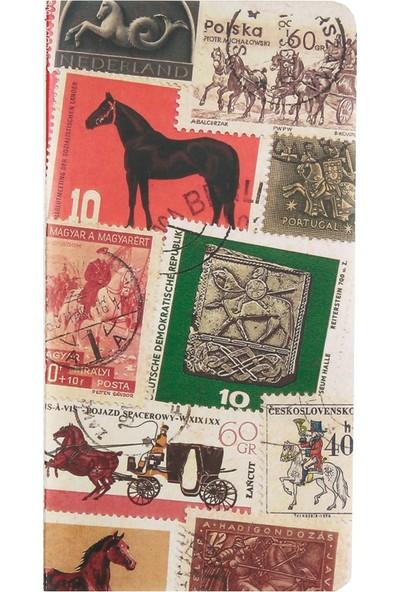 Postage Stamp / Horses 11*21 30 Sayfa Terzi Dikişli 80 Gr. Ivory Çizgisiz Defter