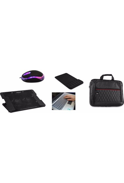 Everest Notebook Aksesuar Paketi ( Soğutucu+Çanta+Mouse+Pad+Klavye Koruma)