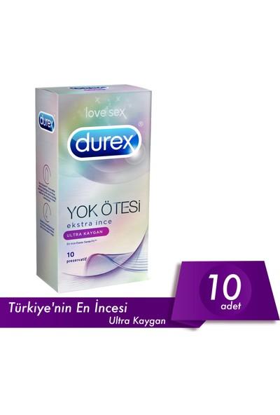 Durex Yok Ötesi Ultra Kaygan 10lu Prezervatif Özel Kalp <3 Paketli