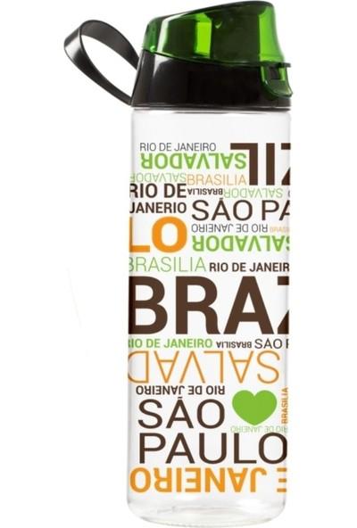 Brezilya Baskılı 750 cc Kırılmaz Su Matarası (Herevin 161506)