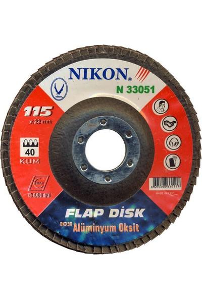 Nikon 33055 Alox. Flap Disk 115 mm 80 Kum 5 Adet