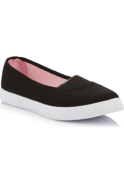 DeFacto Kız Çocuk Kanvas Ayakkabı Siyah
