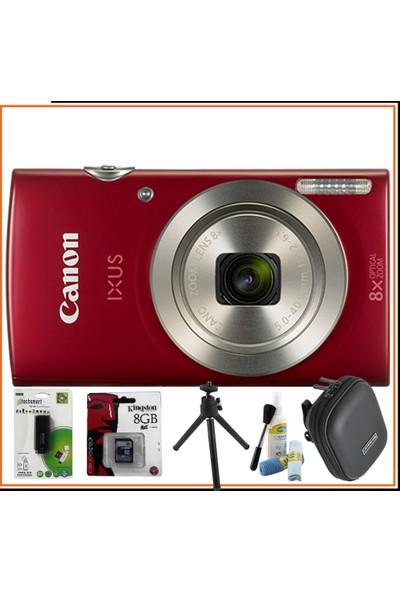 Canon IXUS 185 Kırmızı Mega Hediye Kit