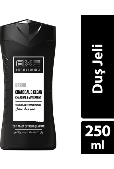 Axe Urban Duş Jeli Charcoal Su Nanesi 250ml