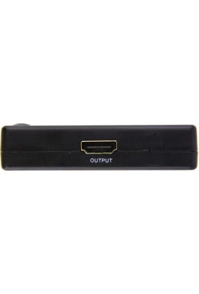 Onten SY-301 3 Port Kumandalı Full HD 1080p Kablosuz HDMI Switch Dahili IR Kızılötesi Alıcılı Yeni Versiyon