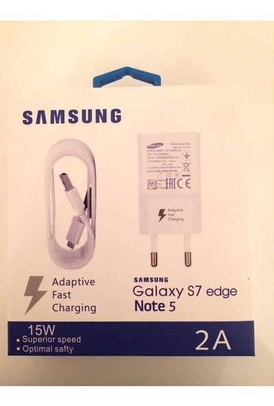 TuruncuOnline Samsung Galaxy Serisi Note 5 - S7- S7 Edge 5.0V 2.0A 15W Sarj Cihazı&Data Kablosu