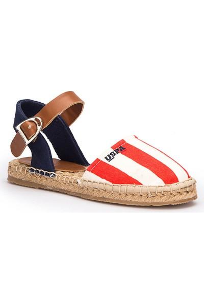 U.S. Polo Assn. Leones Kırmızı Kız Çocuk Espadril Sandalet