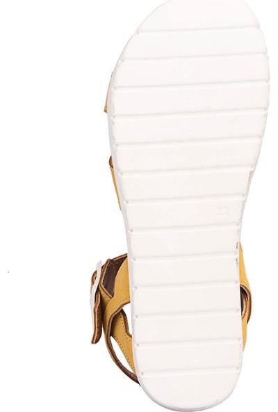 Polaris 71.508159.F Sarı Kız Çocuk Basic Sandalet