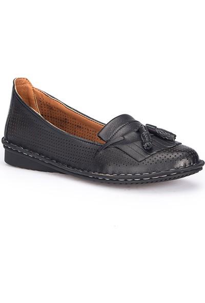 Polaris 71.109685.Z Siyah Kadın Deri Ayakkabı