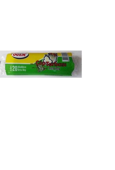 Ögem Plastik Çöp Torbası Poşeti 55X60 Cm 20 Li Büyük Boy 20 Adet