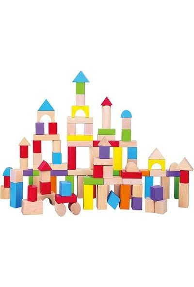 Eco Shop Renkli Ahşap Bloklar (100 Parça )