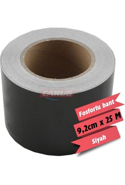 Nettedarikcisi Fosforlu Reflektif Bant 9,2 cm x 25 m Siyah