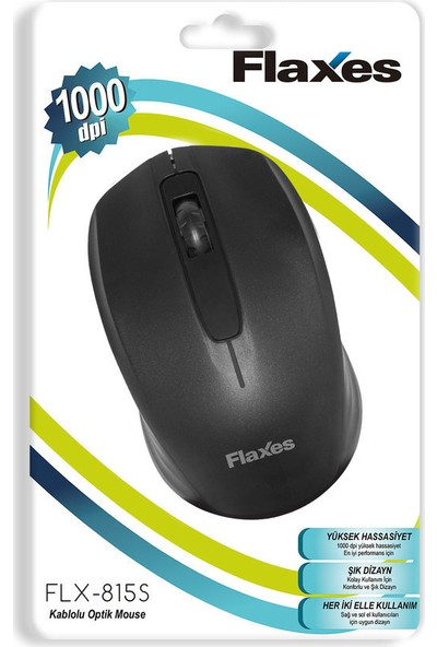 Flaxes FLX-815S USB Siyah Kablolu Mouse