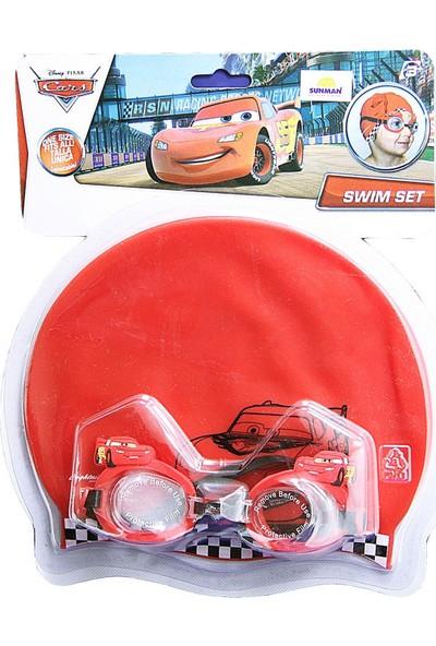 Sunman Cars Bone ve Gözlük Yüzme Seti