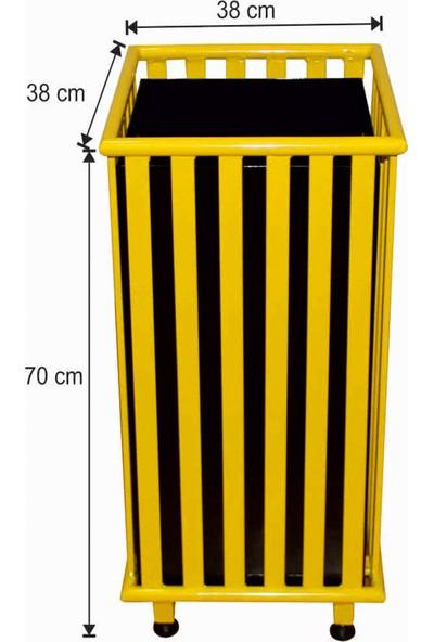 Avrupa Tedarik Dış Alan Çöp Kovası Kare Sarı Renk